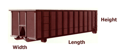 dumpster dimensions for Pittsburgh dumpster rentals